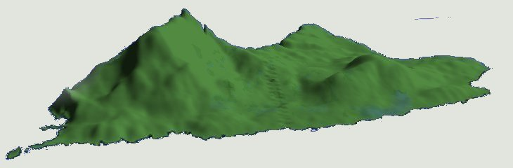 Clare Island viewed from the South East - Max Elevation: 462M