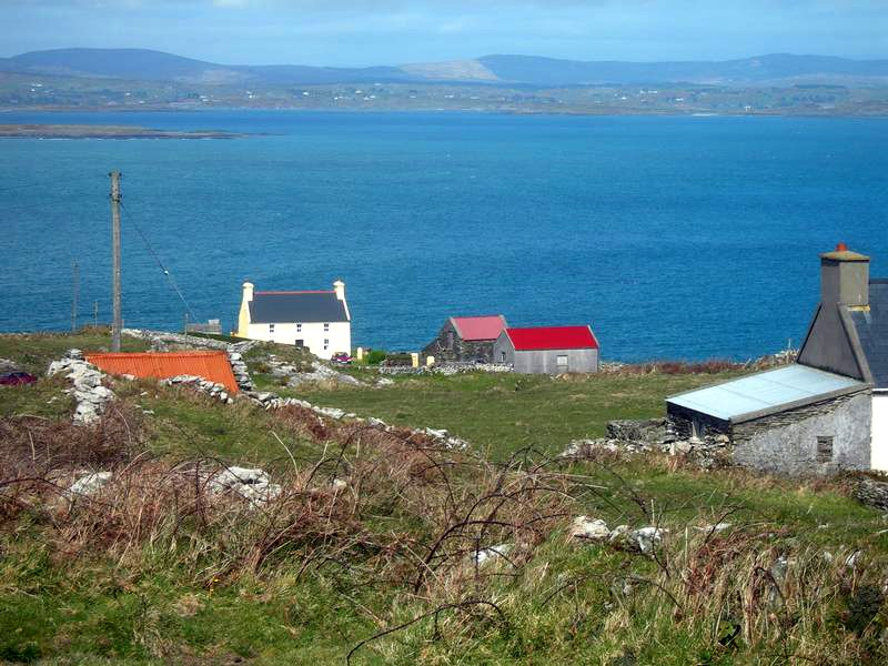 Cape Clear is the most southerly inhabited place in Ireland and Blananarrigan (in photo) is the most sorutherly point on Cape Clear
